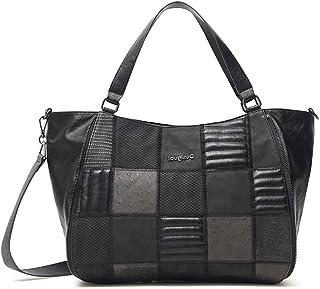 Desigual Womens BOLS_FIRE SAGA RUANDA Shoulder Bag, Black, One Size