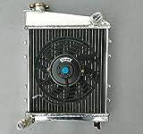 Radiador de aluminio de 40 mm + ventilador para Aus-tin Ro-ver Morris Mini Cooper GT 850 1000 1100 1275 1959-1991