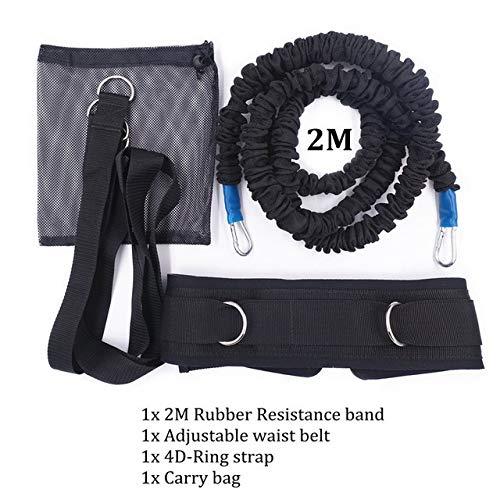 Im Freien Widerstand Bungee Band mit justierbarem Neopren-Gurt for laufende Trainings-Workout Geschwindigkeit Beweglichkeit Stärke Basketball und Fußball trainieren (Farbe : Set 2)
