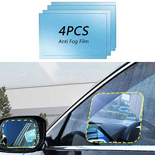Anti Fog Film Car Rear View Mirror Waterproof Film Protective Film Anti Glare Rain-Proof Anti Water Mist, HD Nano Film Anti-Glare,Anti-Scratch,Rainproof