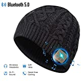 Bluetooth Beanie Hat, 5.0 Cappello Bluetooth, Cuffie a Cuffia wireless con Altoparlanti Stereo HD e...