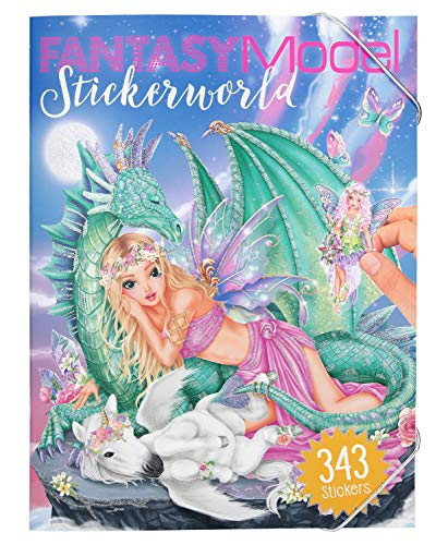 Depesche 10558 – Libro Colorear Stickerworld, Fantasy