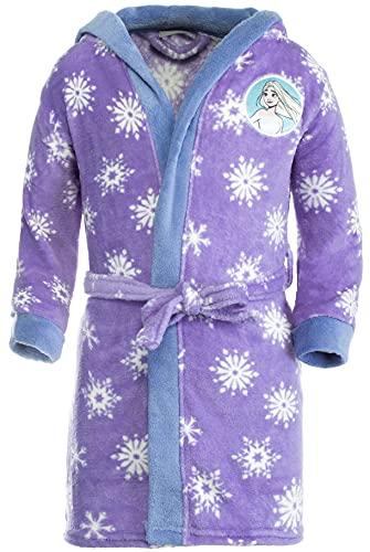 Brandsseller Albornoz infantil con capucha, diseño de Frozen 2, morado, 110 cm