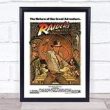 ぶら下げ絵画-インディアナジョーンズレイダースオブザロストアーク2 RARE NEW映画のテーマポスター - サイズ:39x31cm(額縁を送る)