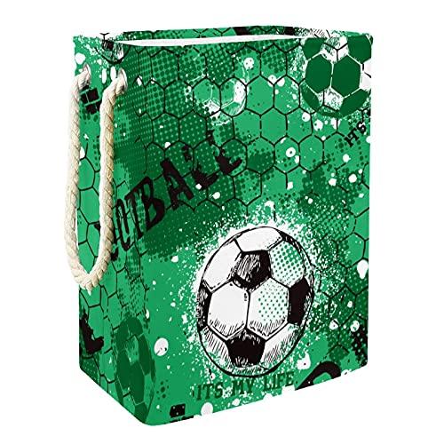 EZIOLY Cesta de lavandería verde para baloncesto con asas y soportes desmontables, resistente al agua para la ropa, juguetes, organización en la sala de lavandería, dormitorio