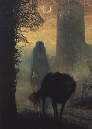 World of Art Kunstdruck, Poster, Futurismus, surrealistisches Barrock-Gotik-Motiv von Zdzislaw Beksinski, 250g/m², Hochglanz, A3