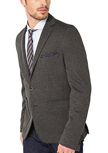s.Oliver BLACK LABEL Herren Sakko 12.409.54.4668, Einfarbig, Gr. 50, Grau (dark grey knit 98X1)