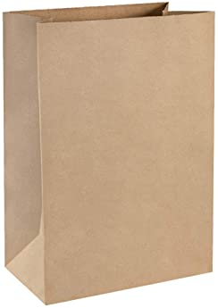 BagDream Grocery Bags 12x7x17 Inches 100Pcs Heavy Duty Kraft Brown Paper Grocery Bags Durable Kraft Paper Bags, Paper...