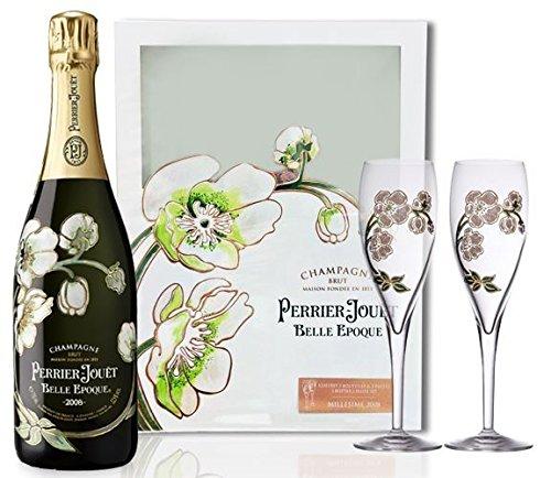 Perrier Jouet Belle Epoque Blanc Brut GB mit 2 Gläsern 2011 12,5 Vol. 0,75