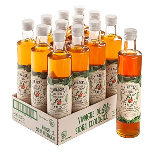 Maeloc Vinagre de sidra de manzana - 12 de 500 ml. (Total: 6