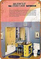 金属サイン1930クレーンマルシア浴室備品インチレトロな装飾ティンサインバー、カフェ、アート、家の壁の装飾