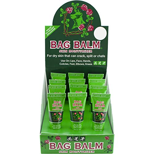 Vermont#039s Original Bag Balm 12 Pack Lip Moisturizer for Dry Lips Skin Cracked Heals Dry Elbows Chafing