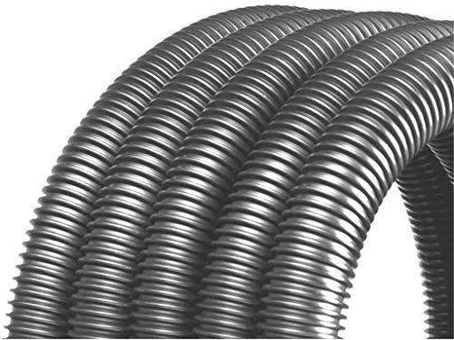 Tuyau d'aspiration vendu au mètre 32 mm, couleur : argent/gris