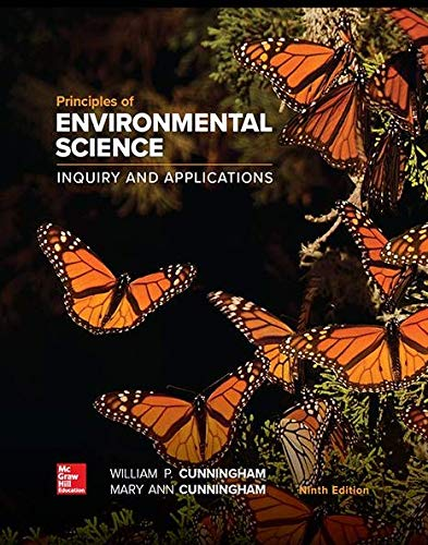 Compare Textbook Prices for Principles of Environmental Science 9 Edition ISBN 9781260219715 by Cunningham, William,Cunningham, Mary