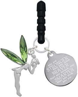 Large Fairy with Resin Wings Stronger Braver Smarter Phone Charm