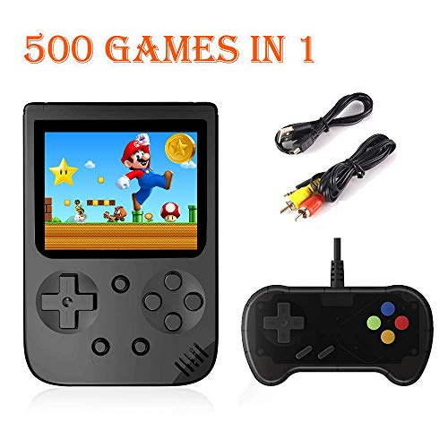 HDStore New Game Consoles for Nintendo N E S Built in 500 in 1 Classic Games Retro Handheld Best Video Gaming Consoles Support L,R Button and Connecting TV and Two Players