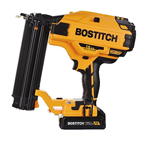 BOSTITCH 20V MAX Cordless Brad Nailer Kit, 18GA (BCN680D1)