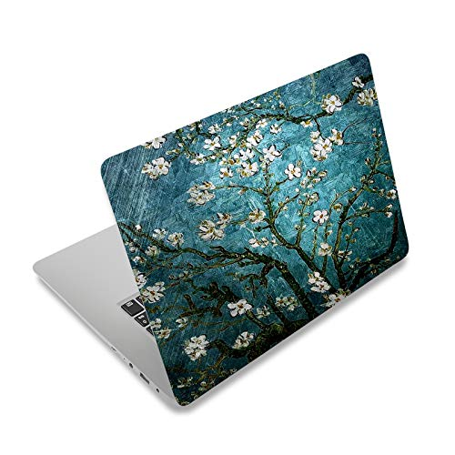 Laptop Skin Sticker Decal,12' 13' 13.3' 14' 15' 15.4' 15.6 inch Laptop Vinyl Skin Sticker Cover Art Protector Notebook PC (Free 2 Wrist Pad Included), Decorative Waterproof Removable,Van Gogh Painting