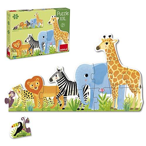 Goula- Selva de Pequeño a Grande Puzzle XXL, Multicolor (53