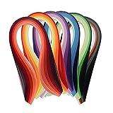 6 unids Ancho Disponible DIY Artesanía Proyectos Color Papel Quilling Set 600 Tiras Multicolor 39cm