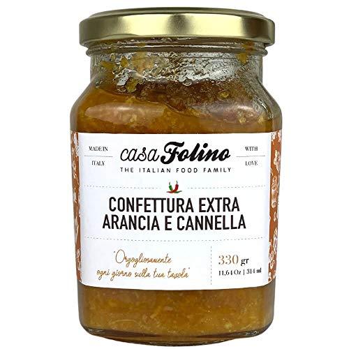 Confettura Extra Arancia e Cannella 330g - Casafolino -Confettura originale, dal gusto fresco e speziato. Made in Italy.