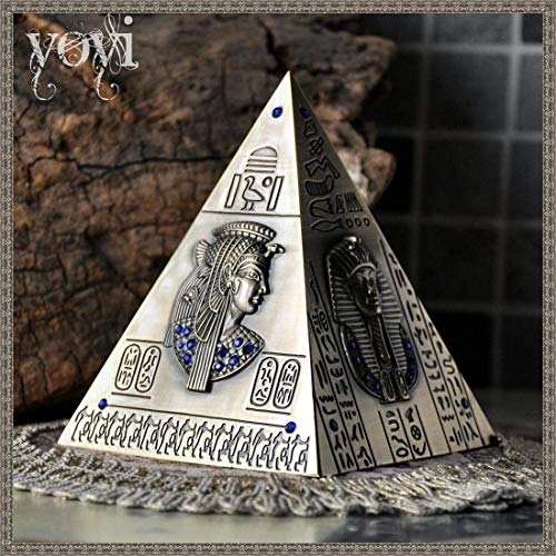 WANNA.ME Vintage Pyramid Money Box Resin Craft Money Bank Egipto Style Piggy Bank Coin Saver Ahorro Almacenamiento Almacenamiento Decoración de Escritorio Niños Regalo Creativo, S