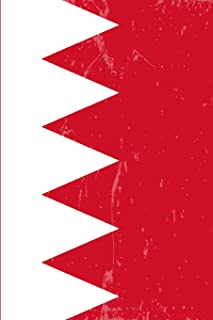 Bahrain Flag Journal: Blank lined Notebook to write in