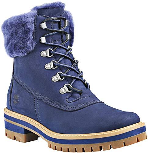 Timberland W Courmayeur Valley 6-Inch Boot Shearling Blau, Damen Winterschuh, Größe EU 37 - Farbe Navy Nubuck