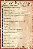 Motivational - A to Zen- Dalai Lama - Poster - Grösse