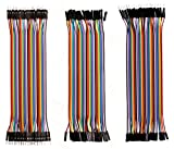 Haitronic 120pcs 20cm length Jumper Wires dupont cable Multicolored 10 color 40pin M to F 40pin M to M 40pin F to F for Breadboard Arduino based DIY raspberry Pi 2 3 Ribbon Cables Kit breadboards May, 2021