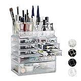 Relaxdays Organizador Maquillaje con Cajones, 2x72x36.5 cm