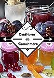 Confitures de grand-mère: Cahier recette de confitures   50 recettes à remplir de...