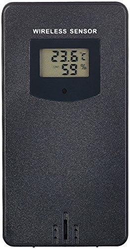 infactory Zubehör zu Wetterstation WLAN App: Funk-Außensensor mit LCD-Display für WLAN-Funk-Wetterstation FWS-Serie (Wetterstation mit Barometer)