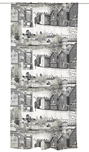 Vallila Oulu Vorhang, 140x250 cm, Grau, Baumwollmischung, Baumwoll-Mischgewebe, Grey, 140 x 250 x 0.1 cm