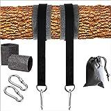 Swing Hanging Straps Kit, Lock Snap Karabinerhaken, Tragetasche Einfache schnelle Installation Perfekt für Baumschaukeln und Hängematten