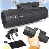 12x50 HD Telescopio Monocular,Impermeable y Antivaho Monoculares de Largo Alcance para Movil con Trípode y Adaptador para Smartphone para Observación de Aves Caza Conciertos Viaje