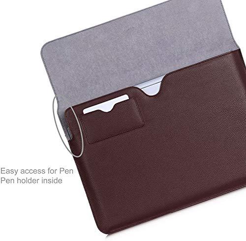 Procase Schutzhülle Microsoft Surface Book, Hülle für 13,5 Inch Tablet Laptop, Kompatibel mit Surface Book Tastatur und Surface Stift(Braun)