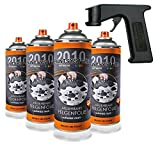 Paintsystems 4 x400ml, Felgenfolie schwarz matt, inkl. Handgriff Spraymaster