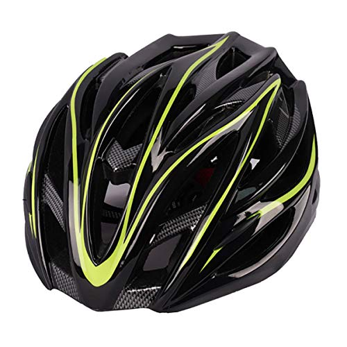 BRAZT Casco De Bicicleta, Cascos De Bicicleta De Carretera De Montaña De Seguridad Ligera, Casco De Ciclismo Ajustable para Hombres Y Mujeres Adultos,Amarillo