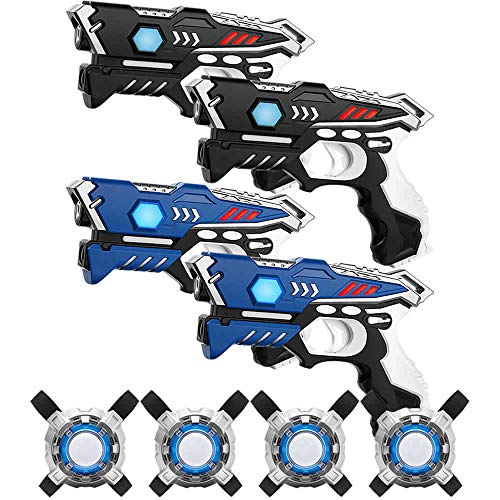 Set de marcadores KidFun Laser - 4 Pistolas + 4 Chalecos