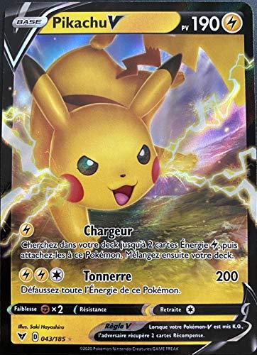 Tarjeta Pokemon Pikachu 043/185 V Ultra Rare espada y escudo 4 EB04 FR