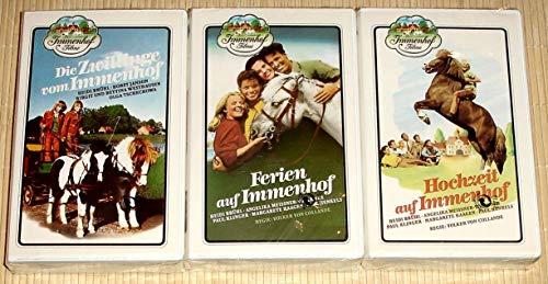 3x VHS-Videokassetten IMMENHOF FILME - Hochzeit auf Immenhof + Die Zwillinge vom Immenhof + Ferien auf Immenhof