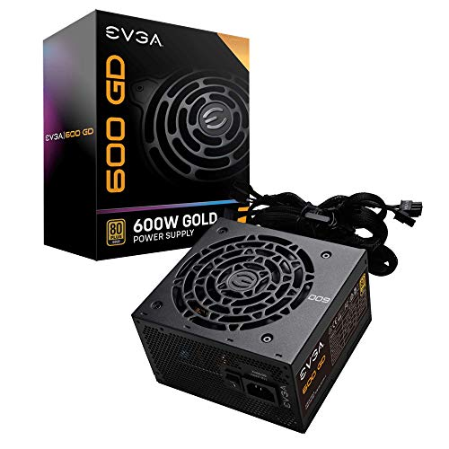 EVGA 600 GD, 80+ Gold 600W, Fuente de Alimentación 100-GD-0600-V2