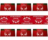 HexyHair Christmas Table Runner and Reindeer Placemats for Red Centerpiece Dining Table Decorations Dresser Scarf Burlap Tabletop Cloth Cover