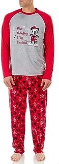 Mickey Mouse Men's Santa's Checklist Holiday Family Pajamas