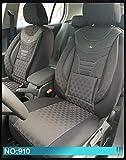 Maß Sitzbezüge kompatibel mit VW Golf Sportsvan Fahrer & Beifahrer ab 2014-2018 Farbnummer: 910