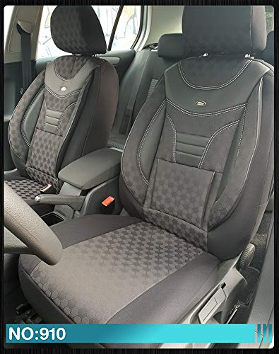 Maß Sitzbezüge kompatibel mit Mercedes B-Klasse W245 Fahrer & Beifahrer Farbnummer: 910