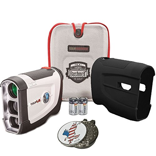 Bushnell Bundle 2016 Tour V4 Jolt Patriot Pack Golf Laser Rangefinder + CR2...