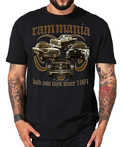 RAM, American Pickup Truck, US Car,Mopar V8, Dodge, Muscle car, Shirt oder Hoodie (L, Mania schwarz)