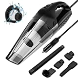 Newdora Car Vacuum Cleaner Handheld 5000PA for Car Wet&Dry with LED Light suitable for any vehicle with 12V outlet with Cord